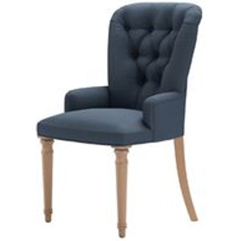 Sinclair Dining Chair In Midnight Blue Brushed Linen...
