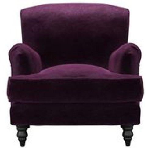 Snowdrop Armchair In Plum Smart Velvet