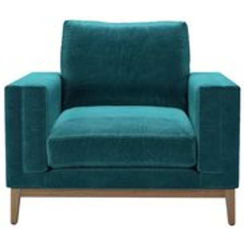 Costello (Plinth) Armchair In Neptune Smart Velvet
