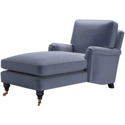 Bluebell Chaise Armchair In Sapphire Smart Velvet