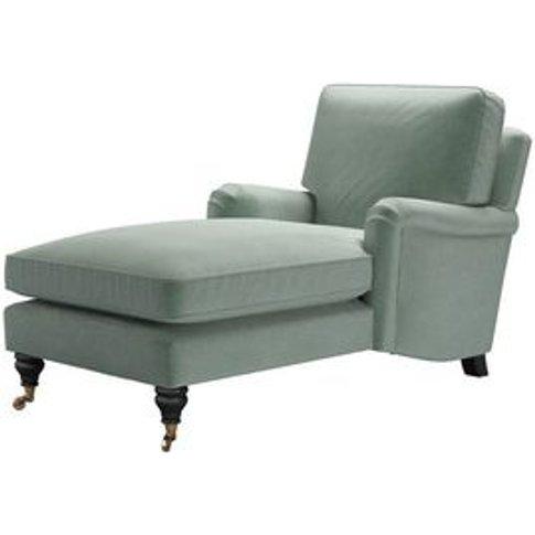 Bluebell Chaise Armchair In Sage Smart Velvet