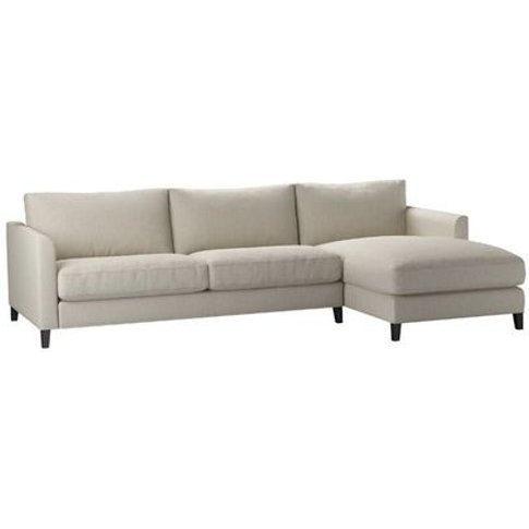 Izzy Large RHF Chaise Sofa in Canvas Pure Belgian Linen
