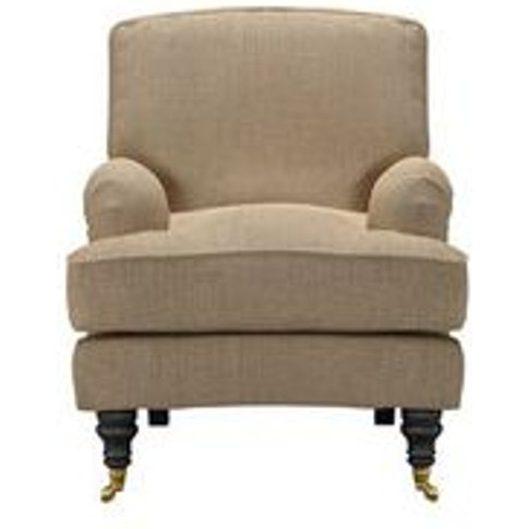 Bluebell Small Armchair In Flax Pure Belgian Linen