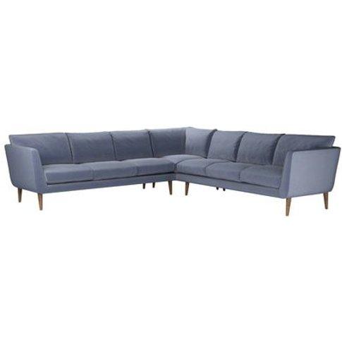 Holly Large Corner Sofa In Sapphire Smart Velvet