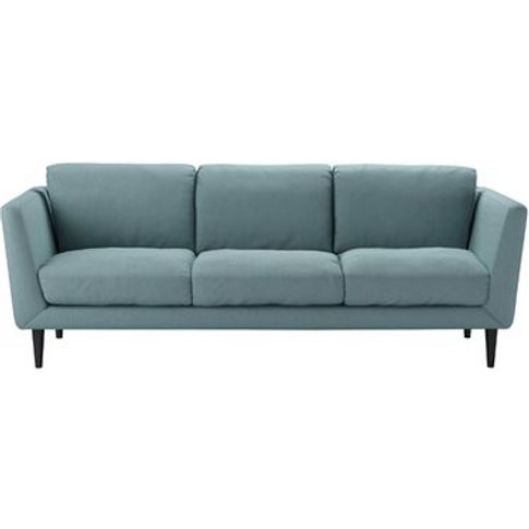 Holly 3 Seat Sofa In Lagoon Brushed Linen Cotton