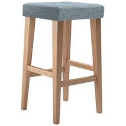 Buttons Tall Stool In Hydrangea Highland Tweed