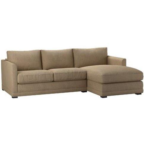 Aissa Small Rhf Chaise Sofa In Flax Pure Belgian Linen