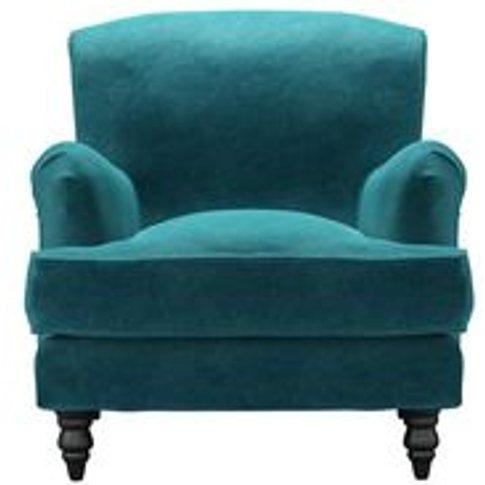 Snowdrop Armchair In Neptune Smart Velvet