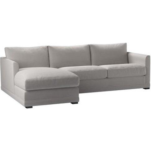 Aissa Medium Lhf Chaise Storage Sofa In Dove Smart V...