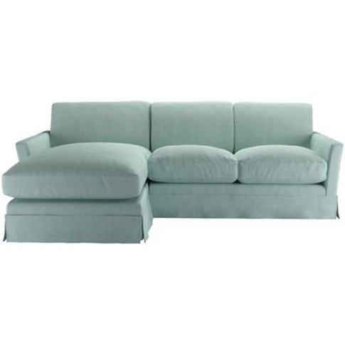 Otto Medium Lhf Chaise Sofa In Cambridge Blue Pure B...
