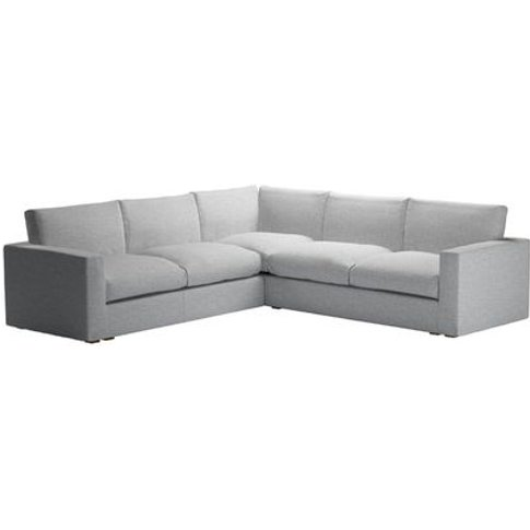 Stella Large Corner Sofa In Frost Highland Tweed
