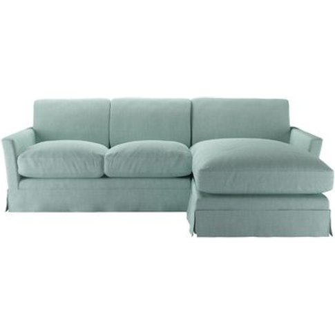 Otto Medium Rhf Chaise Sofa In Cambridge Blue Pure B...