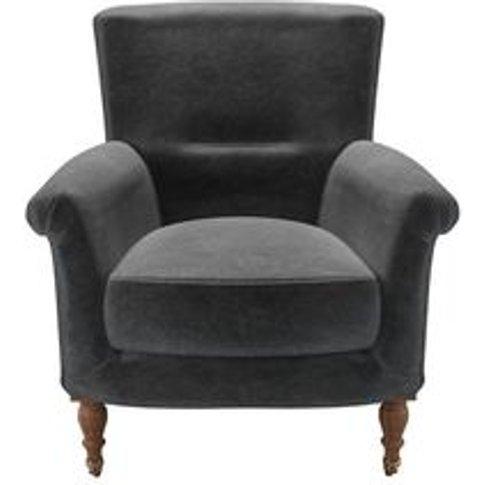 Alderney Armchair In Armour Smart Velvet