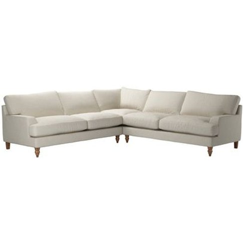 Isla Large Corner Sofa In Canvas Pure Belgian Linen