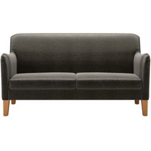 Lily 2 Seat Sofa In Elephant Cotton Matt Velvet