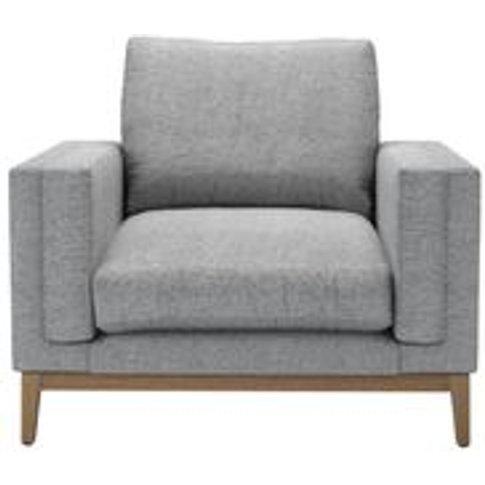 Costello (Plinth) Armchair In Ash Soft Wool