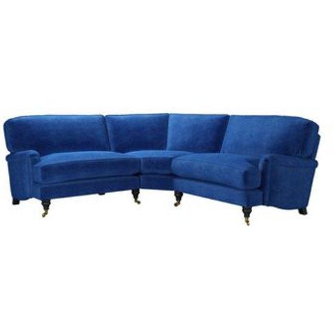 Bluebell Small Corner Sofa In Cobalt Smart Velvet