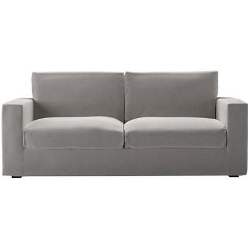 Stella 3 Seat Sofa In Dove Smart Velvet