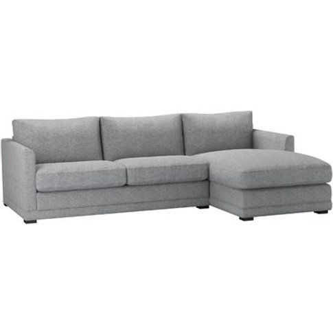 Aissa Medium Rhf Chaise Sofa In Ash Soft Wool