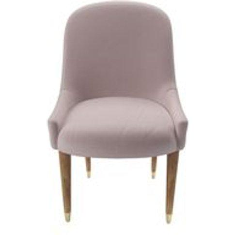 Arabella Dining Chair In Lychee Smart Velvet