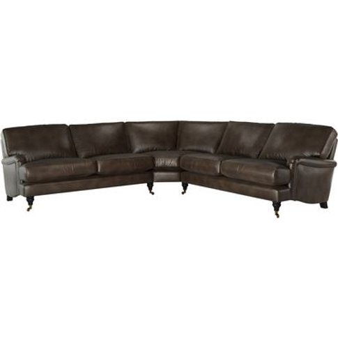Bluebell Large Corner Sofa In Espresso Bellwether Le...