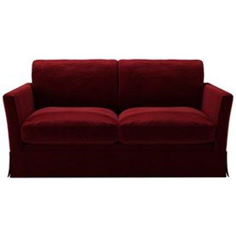 Otto 2 Seat Sofa In Claret Cotton Matt Velvet