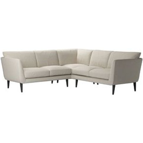 Holly Small Corner Sofa In Canvas Pure Belgian Linen
