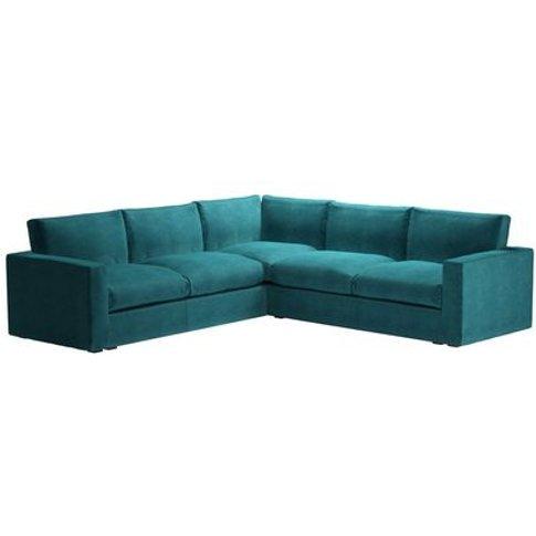 Stella Large Corner Sofa In Neptune Smart Velvet