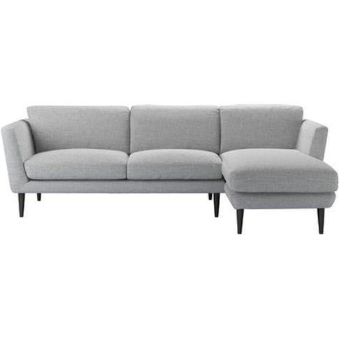 Holly Medium Rhf Chaise Sofa In Frost Highland Tweed