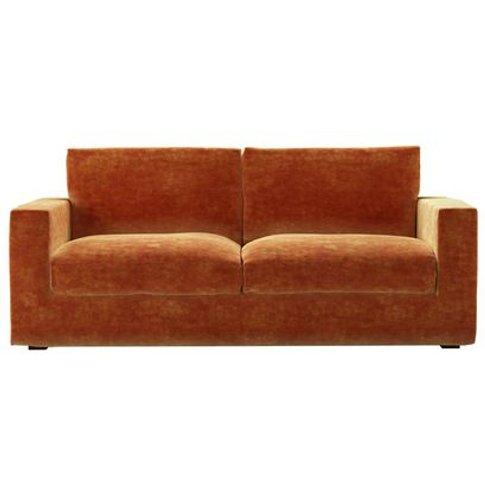 Stella 3 Seat Sofa In Ganges Roosevelt Velvet