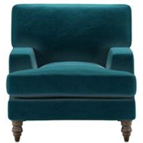 Isla Small Armchair In Deep Turquoise Cotton Matt Ve...