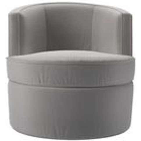 Monroe Armchair in Dove Smart Velvet