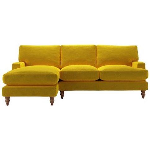 Isla Medium Lhf Chaise Sofa In Canary Cotton Matt Ve...