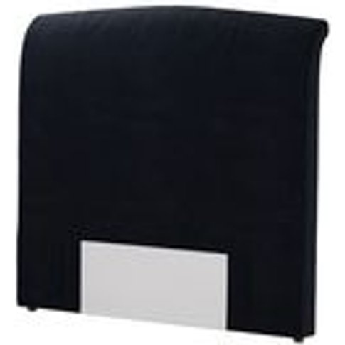 Standalone Thea Double Headboard In Pitch Smart Cotton
