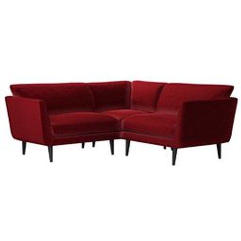 Holly Extra Small Corner Sofa In Claret Cotton Matt ...