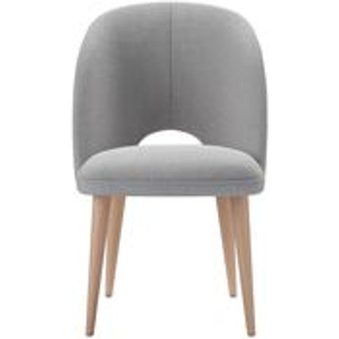 Darcy Dining Chair In Cobble Brushed Linen Cotton