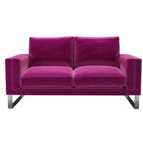 Costello 2 Seat Sofa In Peony Cotton Matt Velvet