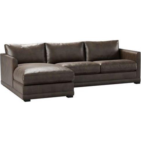 Aissa Medium Lhf Chaise Storage Sofa In Espresso Bel...