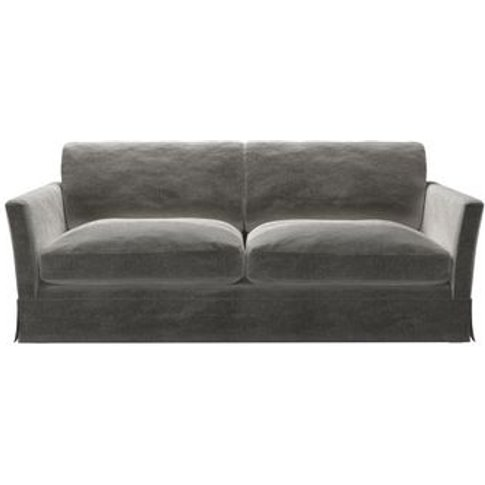 Otto 3 Seat Sofa In Squirrel Cotton Matt Velvet