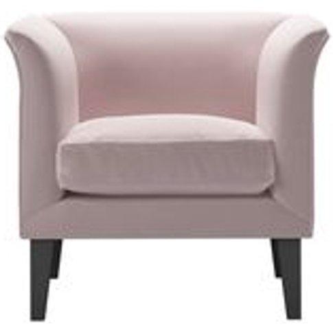 Fingal Armchair In Lychee Smart Velvet