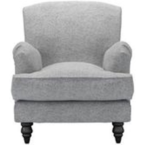 Snowdrop Small Armchair In Ash Soft Wool