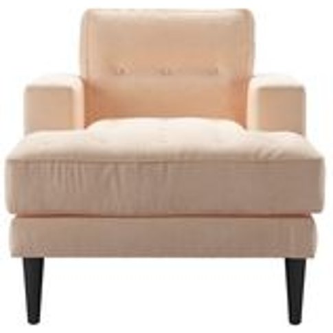 Mabel Chaise Armchair In Peach Sorbet Smart Velvet
