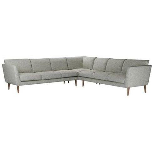 Holly Large Corner Sofa In Grey Marl Highland Tweed