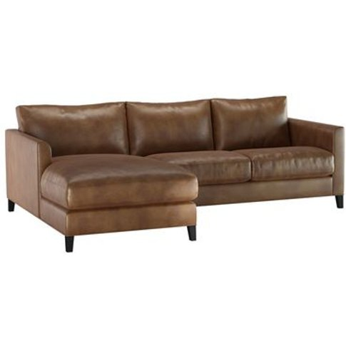 Izzy Small Lhf Chaise Sofa In Mocha Bellwether Leather