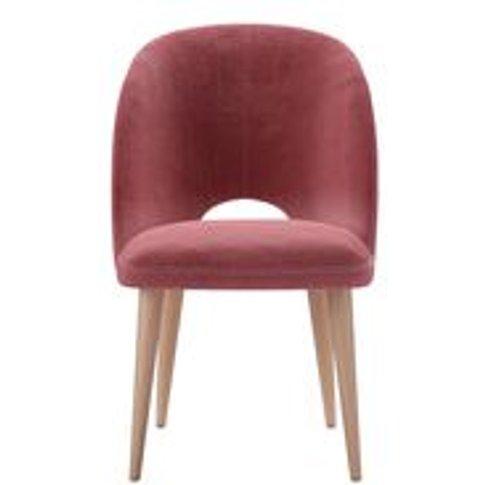 Darcy Dining Chair In Dusty Rose Cotton Matt Velvet