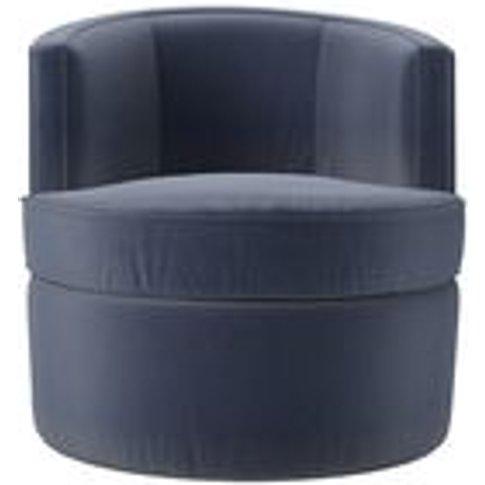 Monroe Armchair In Sapphire Smart Velvet