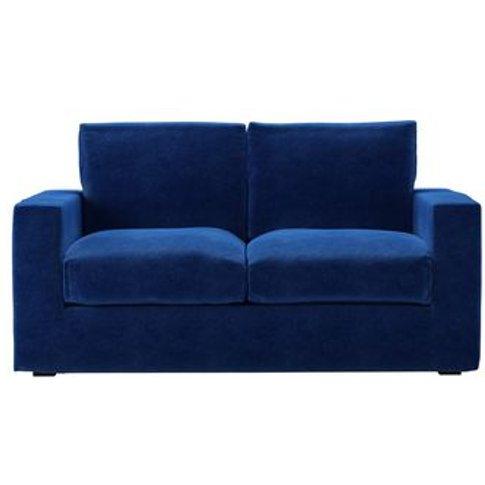 Stella 2 Seat Sofa In Cobalt Smart Velvet