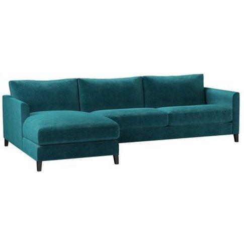 Izzy Large Lhf Chaise Sofa In Neptune Smart Velvet