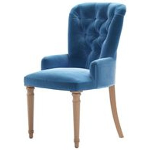 Sinclair Dining Chair In Bahama Cotton Matt Velvet