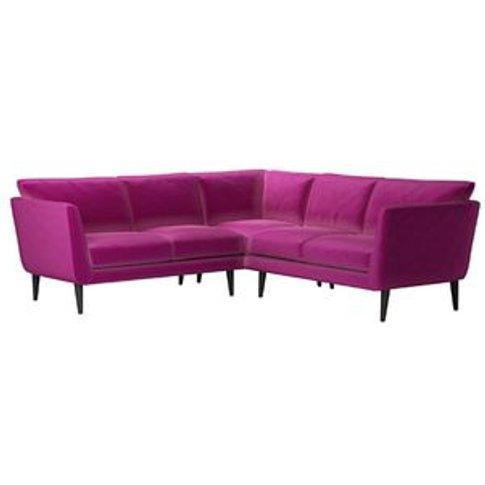 Holly Small Corner Sofa In Peony Cotton Matt Velvet